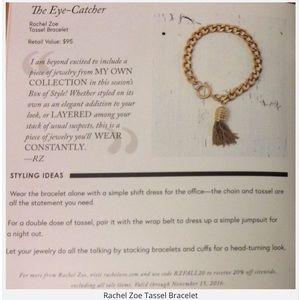 Rachel Zoe Jewelry - Rachel Zoe The Eye-catcher Tassel Bracelet, NWT